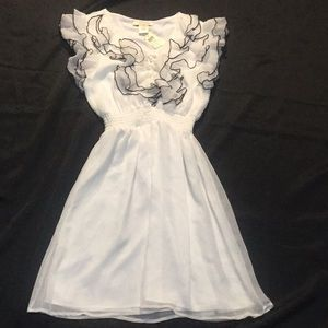 Arden B Chiffon Ruffle lined dress new w/o tag!